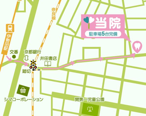 地図 医院までのアクセス